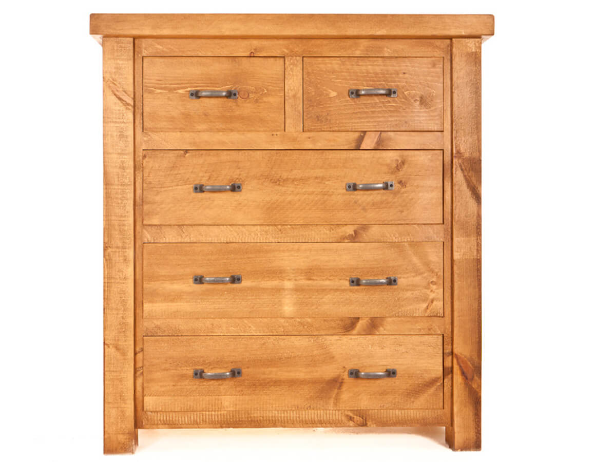 Ramsbury Pine 2 over 3 Chest of Drawers