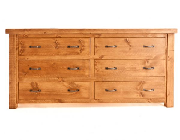 Ramsbury Pine 6 Drawer Low Wide Chest
