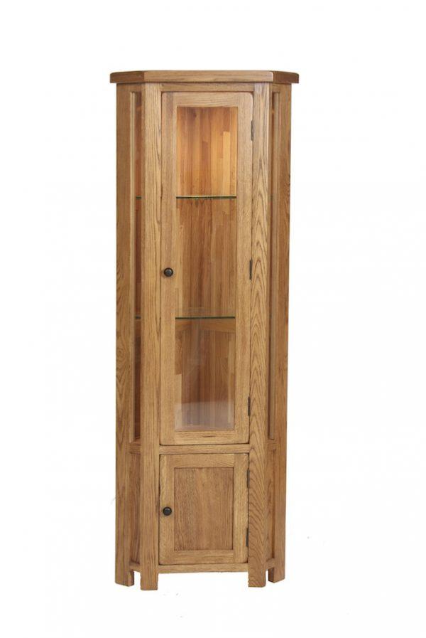Ridgeway OakCorner Display Cabinet