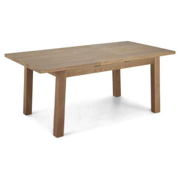 Saxon Rough Sawn Oak Extending Dining Table