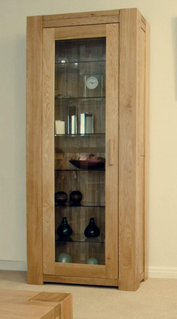 Rhino Oak 1 Door Glazed Bookcase