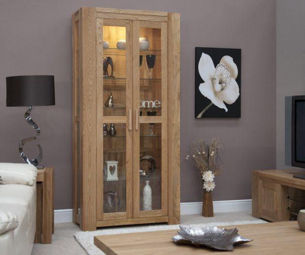 Rhino Oak Glass Display Cabinet