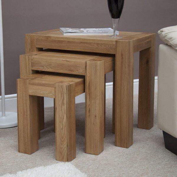 Rhino Oak Nest of Tables