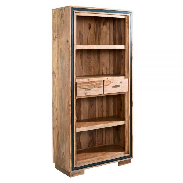 Tali Large Wide Bookcase with 2 Drawers