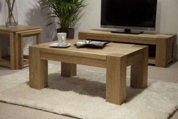 Rhino Oak Coffee Table 3ft x 2ft