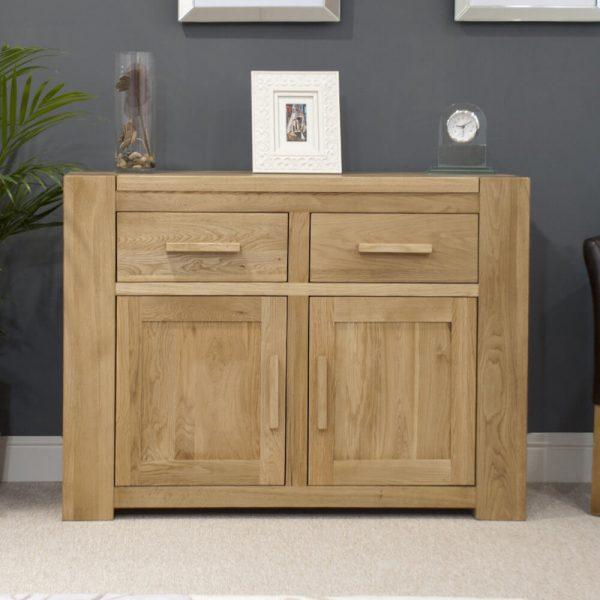 Rhino Oak 2 Drawer 2 Door Sideboard
