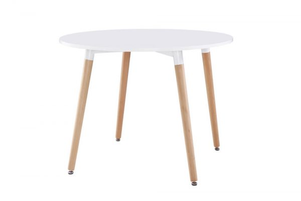 Willobys Urban Round Dining Table - White