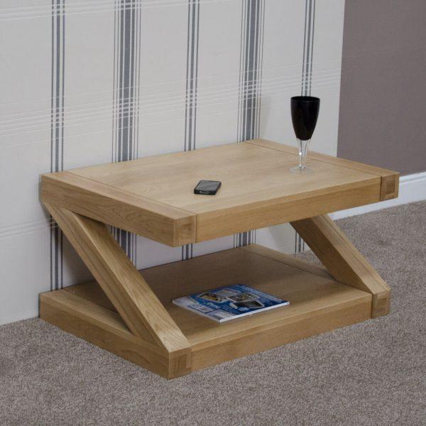 Zebra Oak Coffee Table