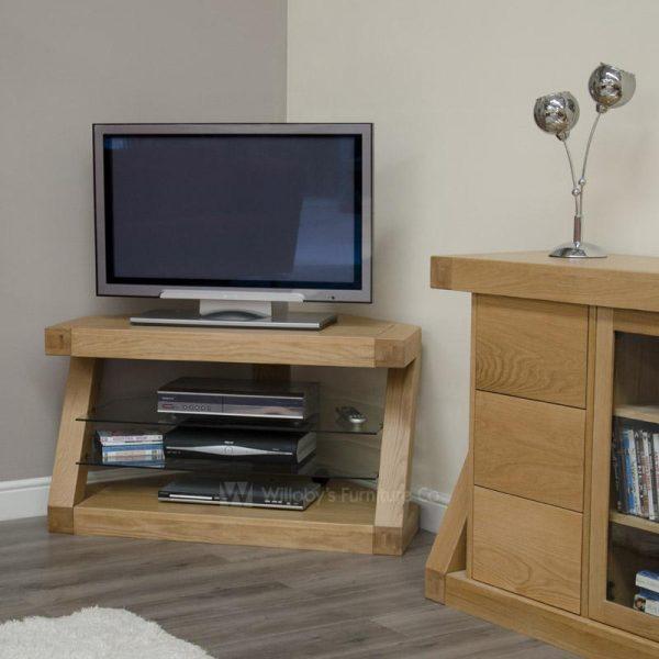 Zebra Oak Corner TV Unit