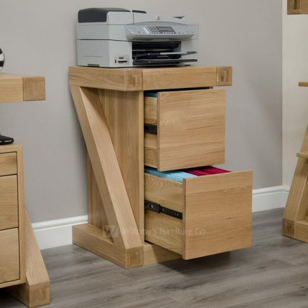 Zebra Oak Filing Cabinet - 2 Drawer