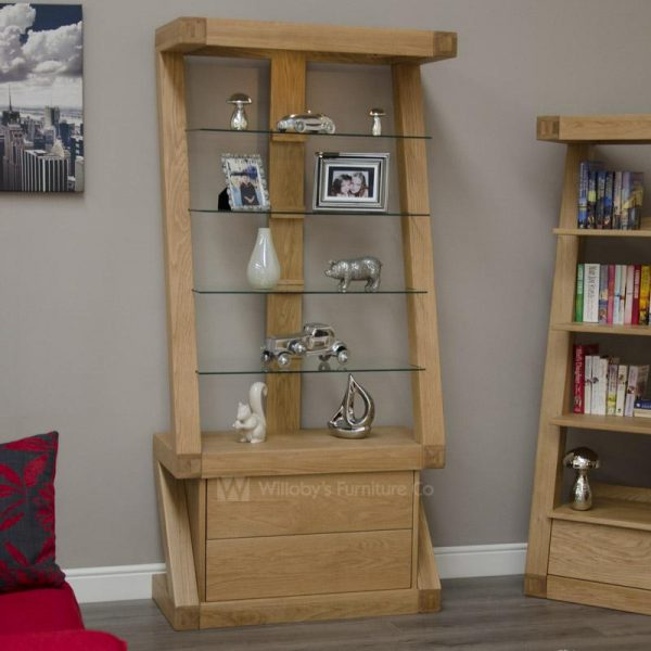 Zebra Oak Display Cabinet