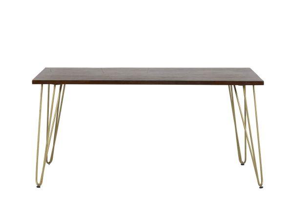 Dark Gold Inlay Dining Table - 160cm - 85cm