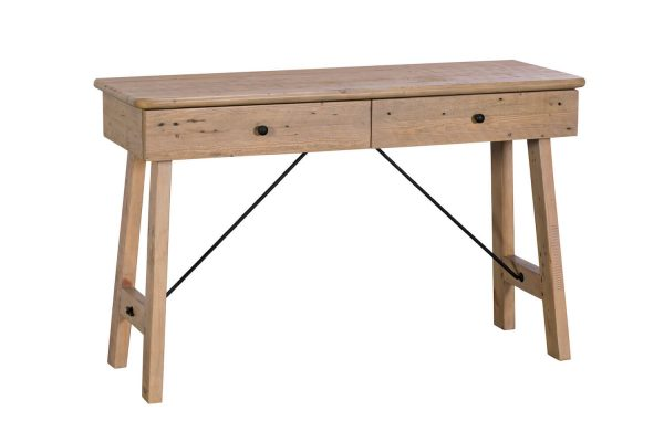 Ellora 2 Drawer Console Table with Metal Struts