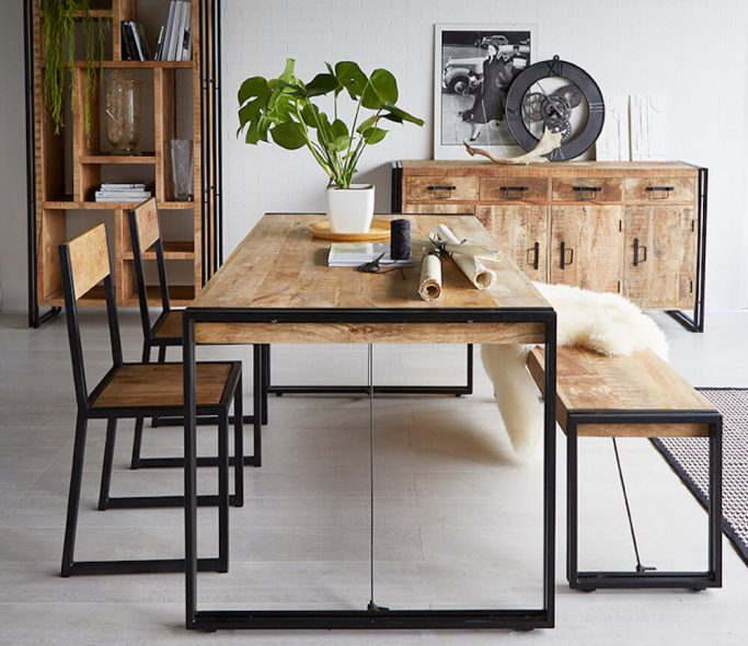 Lunar-Industrial-150cm-Dining-Table-Set