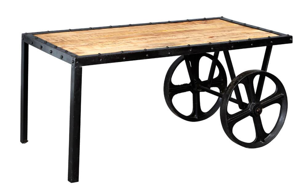 Luna Industrial Cart Coffee Table