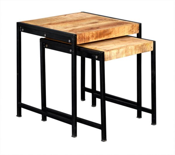 Luna Industrial Nest of 2 Tables