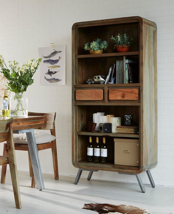 Otto Wide Bookcase with Drawers
