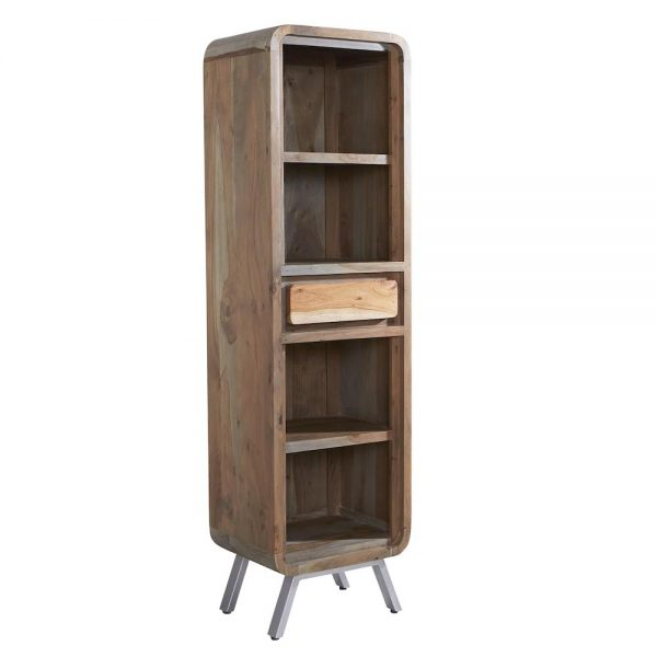 Otto Narrow Bookcase with Drawer
