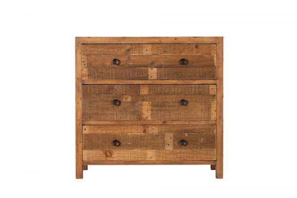 Reclaimed Industial 3 Drawer Wide Chest
