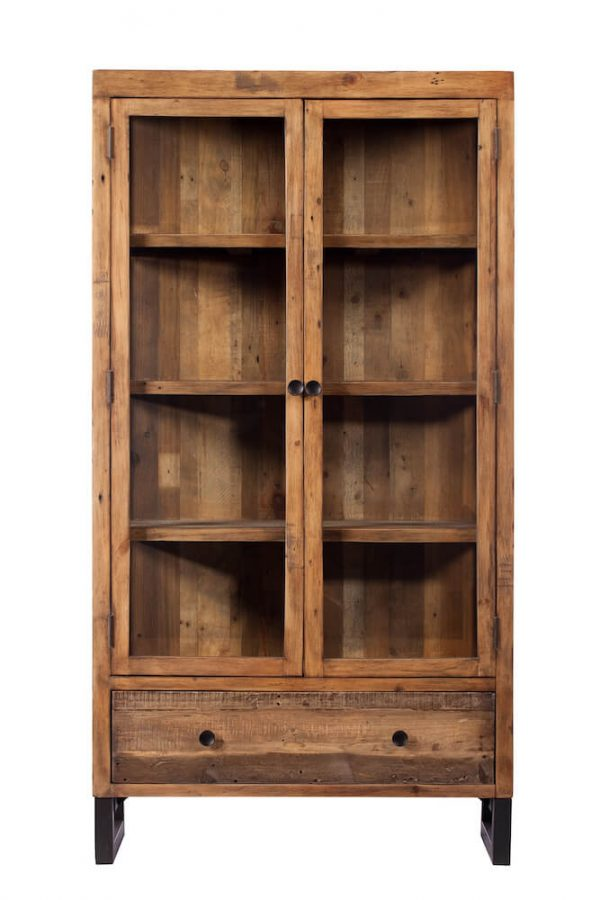 Reclaimed Industial Display Cabinet