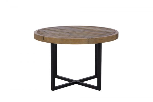 Reclaimed Industial Round Dining Table 120cm