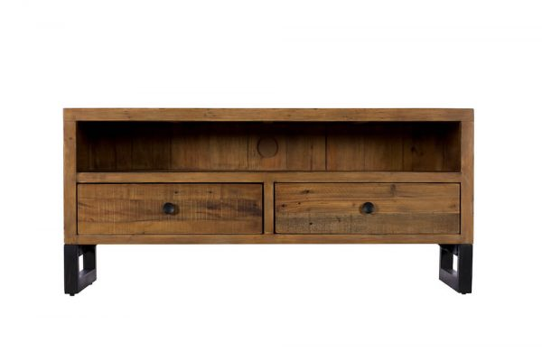 Reclaimed Industial Small TV Unit
